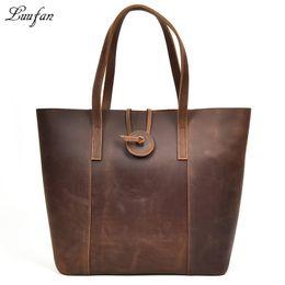Horse Clutch Handbag Australia - New women genuine leather handbag with removable clutch bag Big crazy horse leather tote bags female fashion combination bag