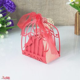 $enCountryForm.capitalKeyWord Australia - 50 pcs hollow carving bird cage shape candy box Christmas cookie gift box wedding party decoration with ribbon 5ZT49