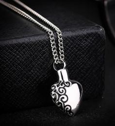 $enCountryForm.capitalKeyWord NZ - DHL Memorial Cremation Ashes Urn Necklace Love Heart Silver NecklaceLocket Pendant Bone Ash Jewelry For Men Women Pendant Christmas Gift