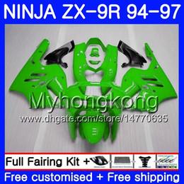 Zx9r 94 Fairing Kits Australia - Body For KAWASAKI NINJA ZX900 ZX 9R 1994 1995 1996 1997 221HM.48 ALL Light green ZX 9 R 900 900CC ZX-9R 94 97 ZX9R 94 95 96 97 Fairing kit