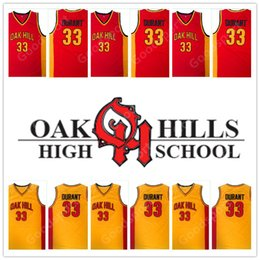 HOT OKAHILLS HIGH SCHOOL Stitched Embroidery Swingman Jerseys Jersey 35 KEVIN DURANT SHIRTS Cheap Wholesale Birthday Gift RETRO Us