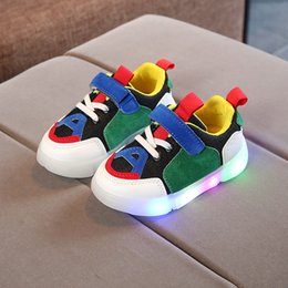 Glitter baby Girl online shopping - 2019 LED glitter Spring Autumn baby girls boys shoes colorful lighted cute baby casual shoes cool high quality sneakers