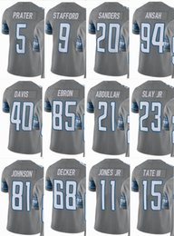 LIONS Detroit  9 Matthew Stafford  20 Barry Sanders  15 Golden Tate  23 Darius  Slay  40 Men Women Youth Color Rush Elite Football Jerseys a26e68c8f
