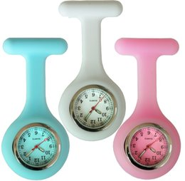 Nurse doctor pocket watch online shopping - NEW fashion full colors design silicone rubber soft pin nurse FOB pocket watch unisex ladies women doctor medical hang watches