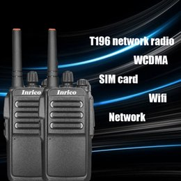 Wholesale 2PCS T196 network walkie talkie mAh battery long standby wifi SIM card WCDMA two way radio with program cable radio