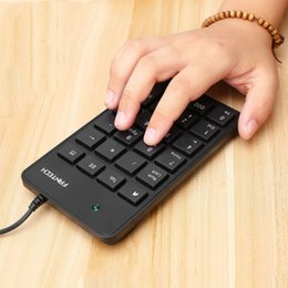 Mini Notebook Accessories Australia - FANTECH Mini 23-Keys USB Number Pad Keypad Portable Numeric Keyboard For Laptop Notebook FTK-801 Eletronic Accessories