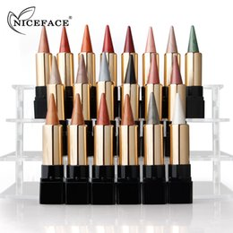 $enCountryForm.capitalKeyWord Canada - NICEFACE 20 Colors Metallic Glitter Eyeshadow Stick Pen Matte Makeup Pencil Waterproof Eye Shadow Makeup Face Beauty Tool