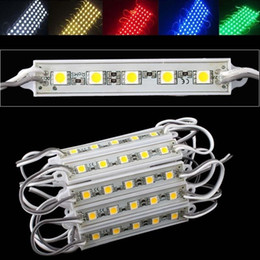Smd Module Australia - new good 5050 Module 5 Colors 5LEDs SMD Lights 20pcs IP65 Waterproof, 12V DC (FREE SHIP)