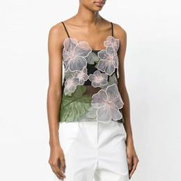 4dec02c1b7 Discount korean women tank tops - floral embroidery sleeveless sexy crop  top women clothing tank top