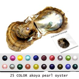 round akoya pearls Canada - 2018 new Natural Akoya Seawater Round Pearls oyster Loose Beads Cultured Fresh Oyster Pearl Mussel Farm Supply Dropshipping Wholesale A-0005