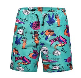 $enCountryForm.capitalKeyWord UK - 2018 summer new youth large size quick-drying swimming trunks cartoon anime print beach pants vacation casual loose shorts