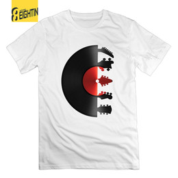 short guitar neck Australia - Awesome Guitar Vinyl Record T-Shirts 100% Cotton Crew Neck Men Short Sleeve Tee Shirt Leisure Breathable Tops Plus Size