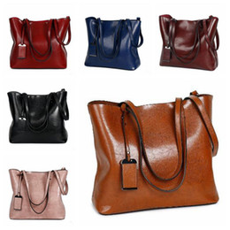 9 Colors Women Casual Totes Wax Oil Leather Handbag Bag Fashion Vintage  Large Shopping Bag Designer Crossbody Bags CCA8839 3pcs c78f108059