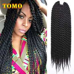 $enCountryForm.capitalKeyWord NZ - TOMO Senegalese Twist Crochet Braids 12 18inch Pre Crochet Braiding Hair Pure Ombre brown Burgundy Kanekaon Synthetic Braids 12Roots pack