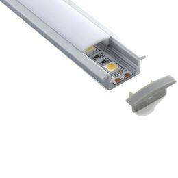 Discount flat ceiling lamp - 10 X 2M sets lot linear flange aluminum profile for led Flat T shape led aluminium profile housing for ceiling mounted l