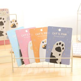 Cat stiCky notes online shopping - Lovely Cat Claw Memo Pad Student Stationery Multi Color Self Adhesive Sticky Notes Post It Bookmark dt C R