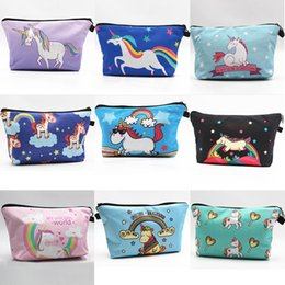 $enCountryForm.capitalKeyWord NZ - Hot Beautiful Womens Unicorn Pattern Cosmetic Zipper Bags Party Home Lovely Storage Cases Gifts Free Shipping
