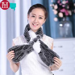 $enCountryForm.capitalKeyWord NZ - 2018 New Hot Sale Women Real Rex Rabbit Fur Scarf Knitted Warm Soft 100% Rex Rabbit Fur Ring Neckerchief Real Rabbit Fur Scarfs