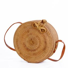 d7c68bd88 Cane bags online shopping - Ins hot Vietnamese rattan package straight side oblique  beach bag bow