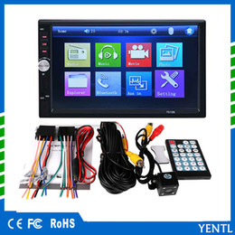 China Free shipping yentl 2 Din Car DVD 7 inch HD In Dash Touch Screen BluetoothCar Radio Player Stereo USB Touch Screen 2 DIN Car MP5 MP3 cheap build green screen suppliers