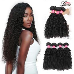 Discount virgin indian remy deep curly hair - Indian Deep Curly Weave Bundles Brazilian Hair Weave 3 4 Bundles Remy Hair Extension 100% Human Virgin Deep Curly Hair N
