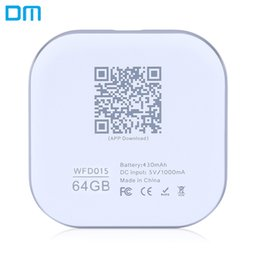 ios laptop 2018 - DM WFD015 32GB   64GB Wireless WiFi Phone U Disk Expansion for Laptop iPhone iPad iOS   Android with LED Indicator Light