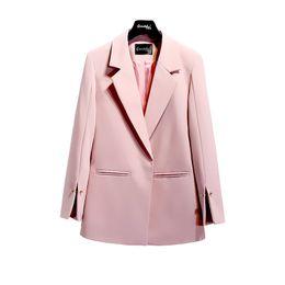 2018 Spring Autumn Suit jacket Women White Black Pink Korean Elegant Solid  Loose Casual Blazer jacket Womens Formal Coat L18101303 6975e60be394