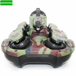 bb tanks 2019 - 2.4GHz Wireless RC Tank Wireless Water   Land Mode BB Shooting RC Tank with LED Light Superpower Motor cheap bb tanks