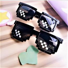 44dacd53944f 2018 Mosaic Men Women Summer Sunglasses 8 Bit MLG Pixelated Thug Life  Glasses Pixel Mosaic Sun Glasses for Party Wholesale