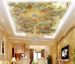 hotel chinese painting NZ - photo wallpaper Zenith ceiling fresco Jesus Faith ceiling painting modern European hotel KTV 3d wall mural wallpaper