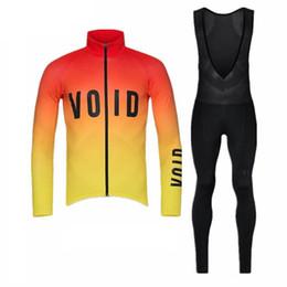 2018 void equipe Camisa de Ciclismo de manga longa camisas de bicicleta bib calças terno Ropa ciclismo Outono ao ar livre sportswear roupas de ciclismo A2301 em Promoção