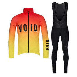 SuitS cycling jerSey long Sleeve online shopping - 2018 void team Cycling Jersey long sleeve shirts bike bib pants suit Ropa Ciclismo Autumn outdoor sportswear cycling clothing A2301