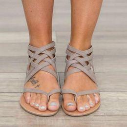 $enCountryForm.capitalKeyWord Canada - New women Flats Summer Women's Sandals Fashion Casual Shoes For Women European Rome Style Sandas free shipping