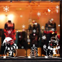 Snowman Stickers NZ - Originality Snowman Christmas Happy New Year Living Room Bedroom Glass Display Window Background Decoration Wall Sticker