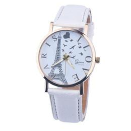 faux leather bracelets 2019 - CLAUDIA Brand new Vintage Tower Watch Faux Leather Bracelet Watches Women WristWatch Quartz Watch gift 1pcs cheap faux l