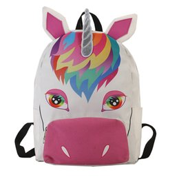 0385fcfba100 Unicorn Zipper Women Canvas Backpack Girls Rucksack Travel School Bag  fashion girl cartoon animals backpack ljjf029