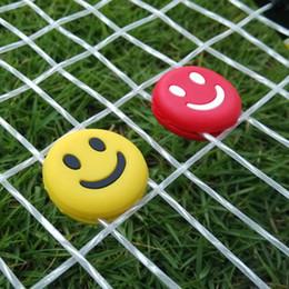 New Shock Resistant Tennis Squash Racket Vibration Dampener Silicone Smile Face Racket Vibration Sport Absorber Shock Absorber on Sale