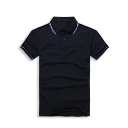PoPular Polo online shopping - Men Shorts Sleeve Polo Shirts Popular Embroidery Wheat Polos Custom Designer Made Dress Shirts Solid Color T Shirt