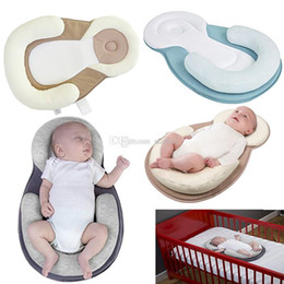 Shape Flat Canada - Baby Bedding Pillow For Newborn Baby Infant Sleep Positioner Prevent Flat Head Shape Anti Roll Shaping Pillow WX9-709