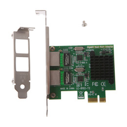 Intel Wireless Pci UK - OPEN-SMART Dual-Port Slot PCI-E X1 RJ45 Interface Gigabit Ethernet Network Card 10 100 1000Mbps Rate Intel 82575 Adapter