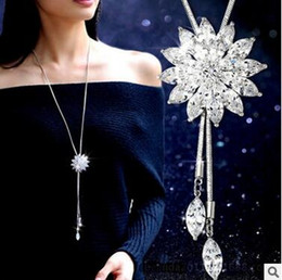 67c97ac77b60 Barato Bling Crystal joyería nupcial conjunto plateado collar creativo  joyería de la boda establece para la novia damas de honor mujeres accesorios