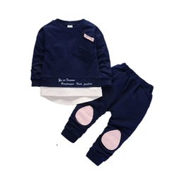 Discount toddlers girls clothes - Autumn Children Boys Girls Fashion Clothes Baby Long Sleeve T -Shirt Pants 2pcs Suits Kids Clothing Sets Toddler Brand T