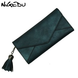 Cream Lace Clutch NZ - Long Women Wallets Luxury Brand Female Portfolio Women's Purse Coin Money Bag tassel Clutch Purses envelope Wallet