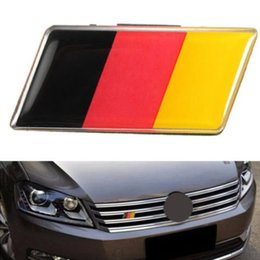 Discount vw grill emblems Germany Flag Grille Grill Emblem Badge Decal Sticker Fit For BMW Audi VW Sturdy