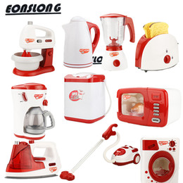 Coffee Housing Australia - Toy appliances pretend play house electric iron eggbeater machine & coffee machine microwave oven washing machine toaster education toys