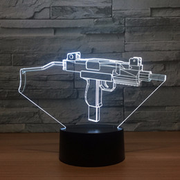 $enCountryForm.capitalKeyWord Australia - 3D Machine gun Optical Illusion Lamp Night Light DC 5V USB Powered 5th Battery Wholesale Dropshipping Free Shippin
