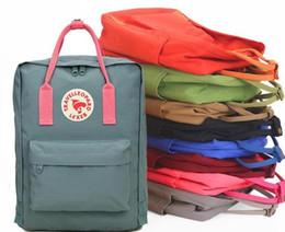 İsveç çift sırt çantası klasik mini sırt çantaları unisex tuval öğrenciler omuz Öğrenci çantaları çanta Schoolbag Kız erkek damla nakliye