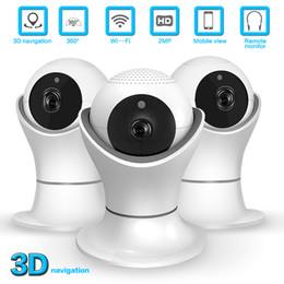 1080 P Wifi IP Kamera Fisheye 360 Grad CCTV Überwachungskamera 2MP Indoor Nachtsicht CCTV Baby Monitor im Angebot