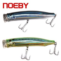 topwater lures NZ - wholesale 2pcs Topwater Popper Fishing Lures Hard Baits 120mm 29g 3D Eyes with Treble Hooks Popper Bait Fake Fish Lure Crankbaits
