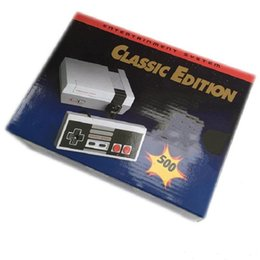 Chinese  Classic Game TV Video Handheld Console Newest Entertainment System Classic Games For 500 New Edition Model NES Mini Game Consoles free DHL. manufacturers